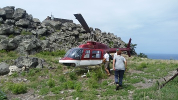 Helicopter to Redonda