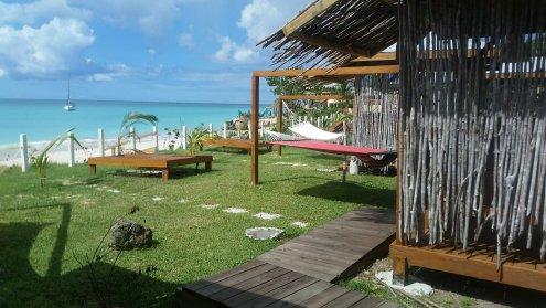 Walkway to cabanas