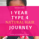 1 Year Type 4 Natural Hair Journey