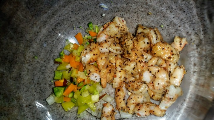 Shrimp with seasonings