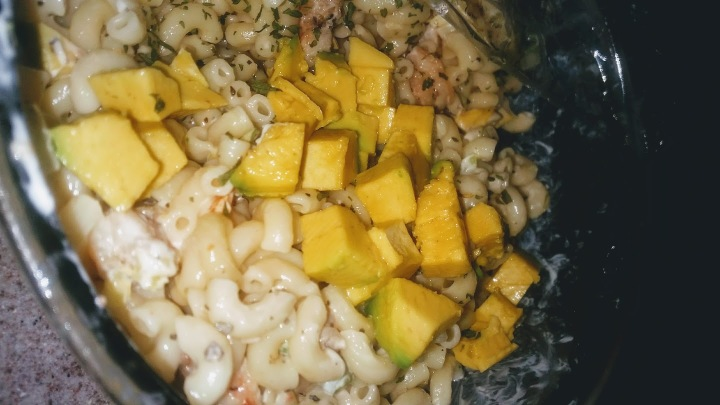 Shrimp and Avocado Macaroni Salad