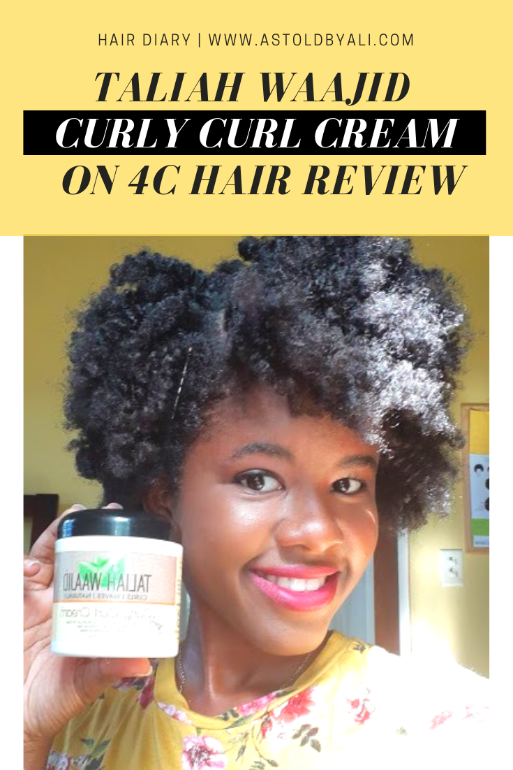 Taliah Waajid Curly Curl Cream Review on 4C hair