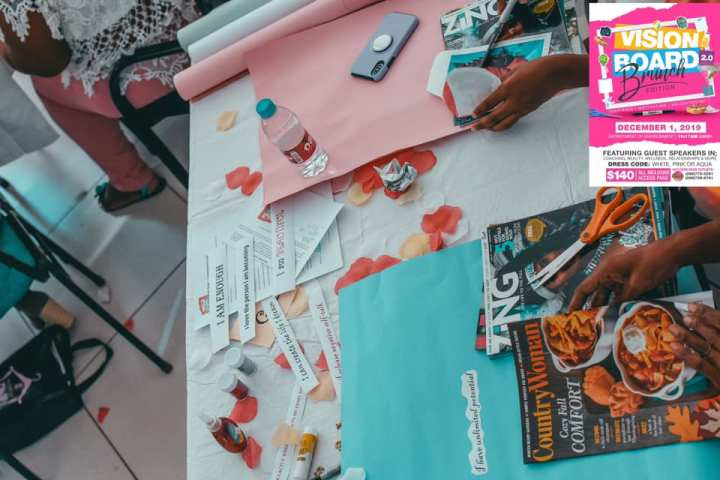 Vision Board Party Experience & 3 Tips for the New Year